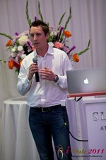 Chas McFeely (CEO of HuookChasUp.com) at the June 22-24, 2011 Dating Industry Conference in Los Angeles