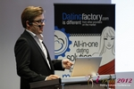 Florian Braunschweig (CTO of Lovoo) at the 2012 Cologne European Mobile and Internet Dating Summit and Convention
