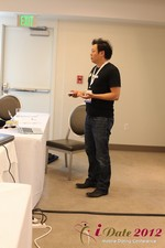 Andy Kim (CEO of Mingle)  at iDate2012 L.A.