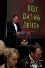 Nick Tsinonis announcing the Best Dating Design in Las Vegas at the 2013 Online Dating Industry Awards