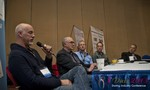 Steve Carter (VP of eHarmony) at the Dating Disruption Methods Panel at iDate2013 Las Vegas
