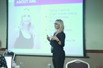 Ane Auret, CEO, presenting on Coaching Programs that work at the 12th annual Europeia iDate conference matchmakers and online dating professionals in Londres