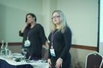 Genevieve Zawada and Arlene Vasquez reporting on the 2016 State of Matchmaking in Europe and the U.K.  at the Reino Unido iDate conference and expo for matchmakers and online dating professionals in 2016